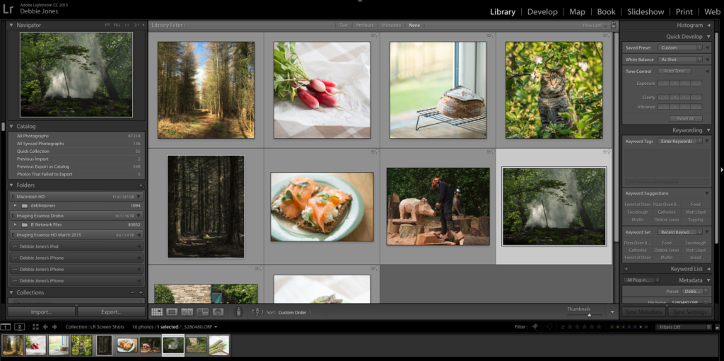 Learn how to organise, edit and share your photographs with Lightroom.